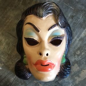 Vintage mask creepy Halloween costume